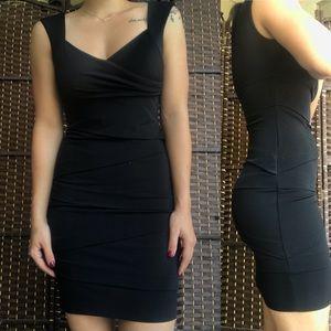 Black Formal Ruched Dress